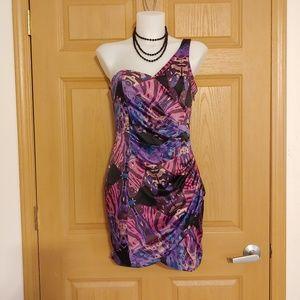 NWOT Lipsy Pixie Lott Colorful One Shoulder Dress